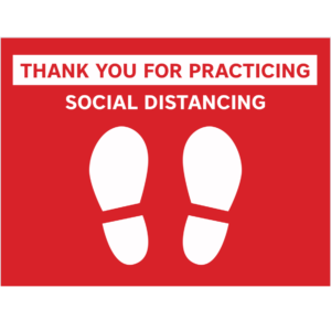 Thank you for social distancing 12x18